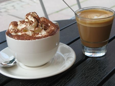 Hot chocolate and coffee, Malmo, Sweden