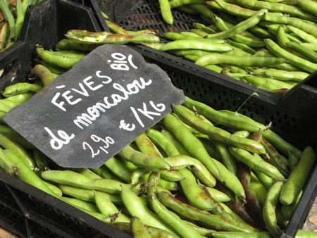 Fava beans, Saturday Market, Sarlat, France