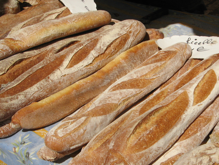 Bread, Saturday Market, Sarlat, France