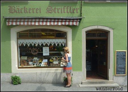 Bakery in Germany with Schneeballen