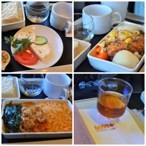 Via Rail business class food