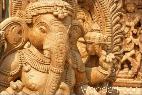 Ganesh wood statue Diwali