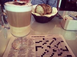 Delicious Latte for brunch at Magic Flute
