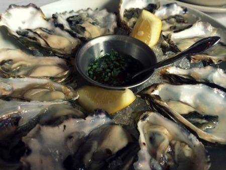 Oysters for brunch at Presidio Social Club