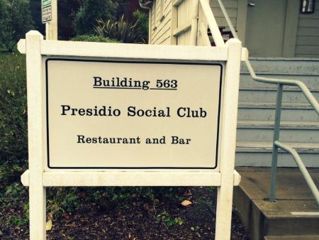 Presidio Social Club in San Francisco entrance