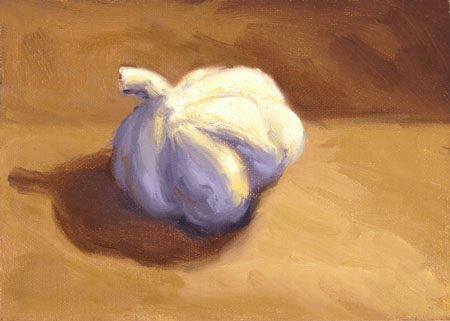 Garlic Painting by Laurel Sherrie