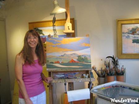 Artist Laurel Sherrie in her Studio