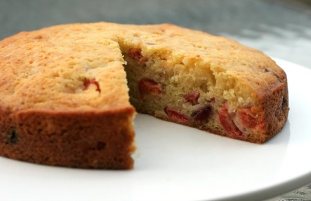 Sour Cherry Olive Oil Cake