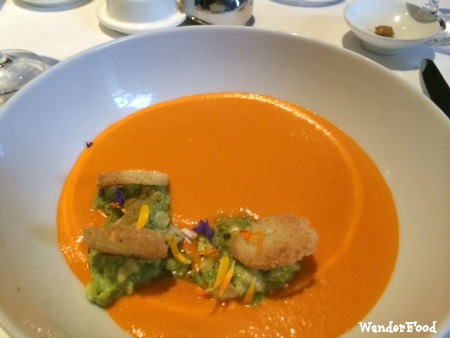 Tomato Fennel Gazpacho at Spruce Restaurant, SF