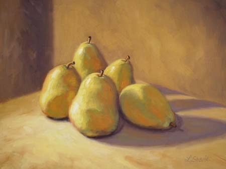 """Yellow Pears"" Painting by Laurel Sherrie"