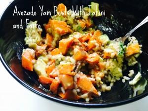 Avocado Yam Bowls