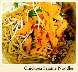 Chickpea Sesame Noodles