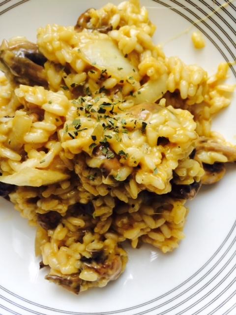 Easy Mushroom Parmesan Risotto