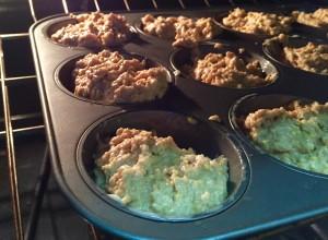 Bake walnut millet muffins