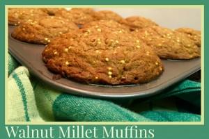 Walnut Millet Muffins