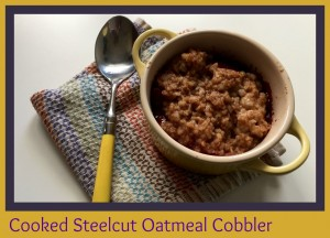Cooked Steelcut-Oatmeal Cobbler