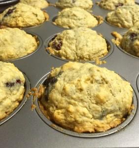 Blackberry buttermilk breakfast muffins