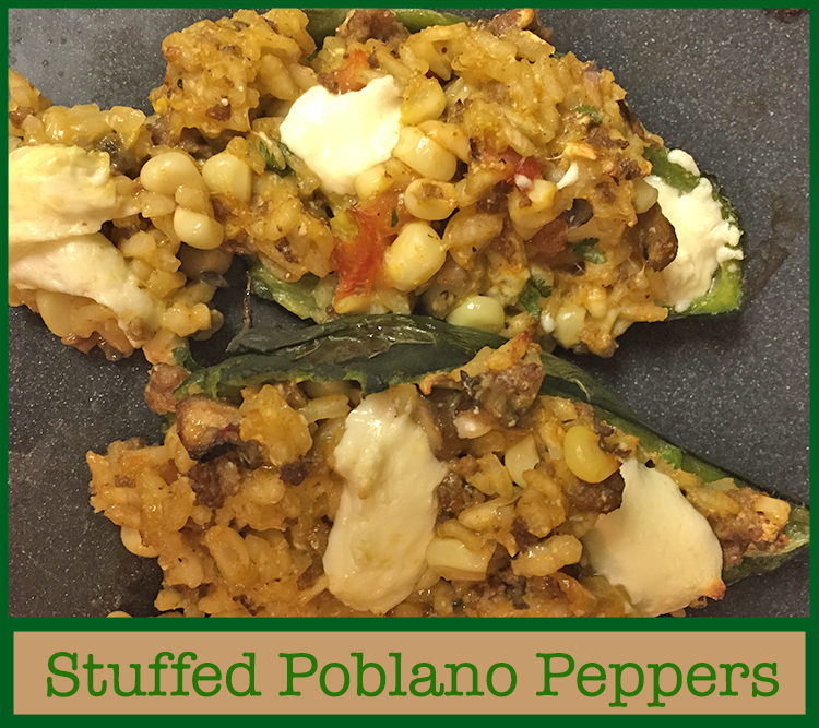 Stuffed Poblanos with Fresh Corn and Tomatoes