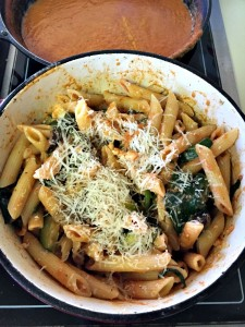 Baked Pasta with Gin Cream Sauce