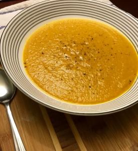 Vegan tomato coconut soup
