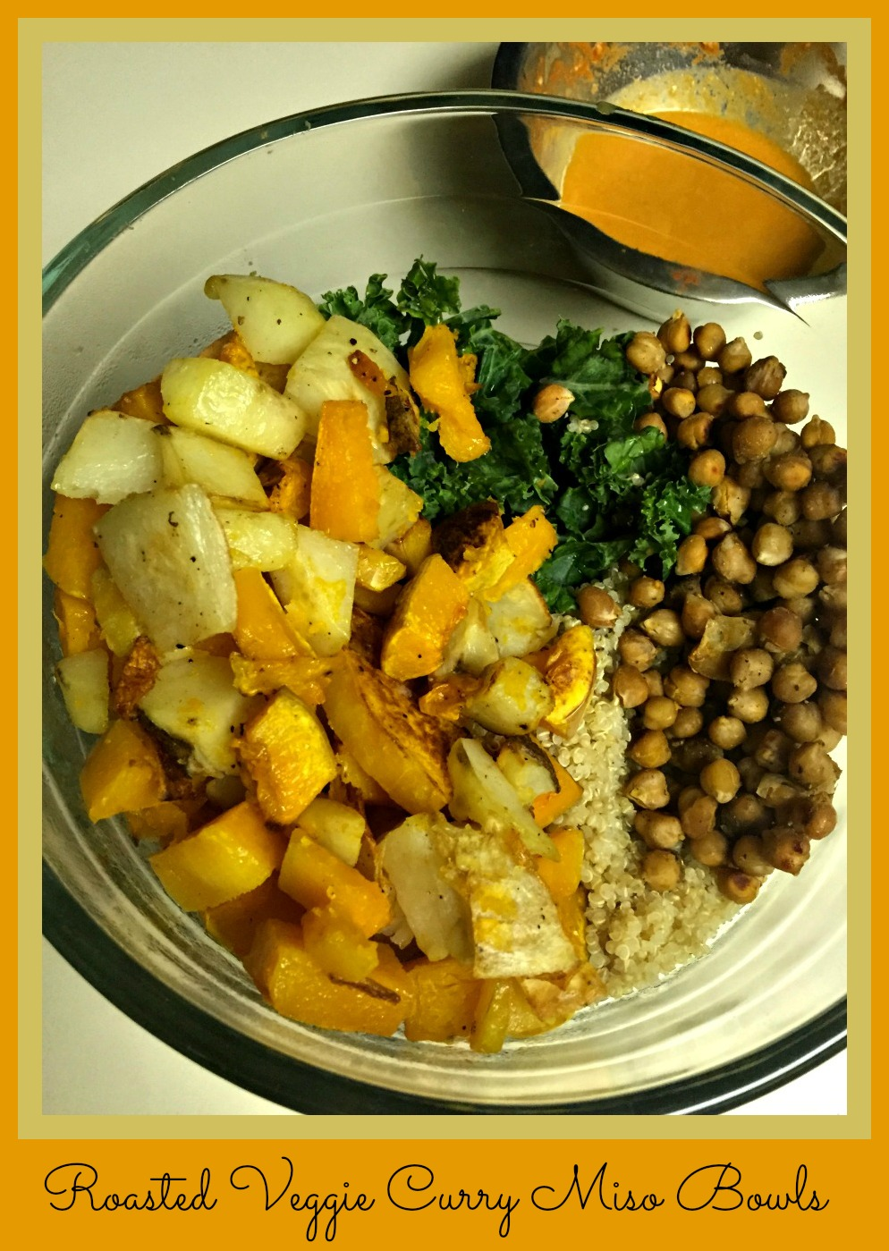 Curry miso bowls with roasted butternut