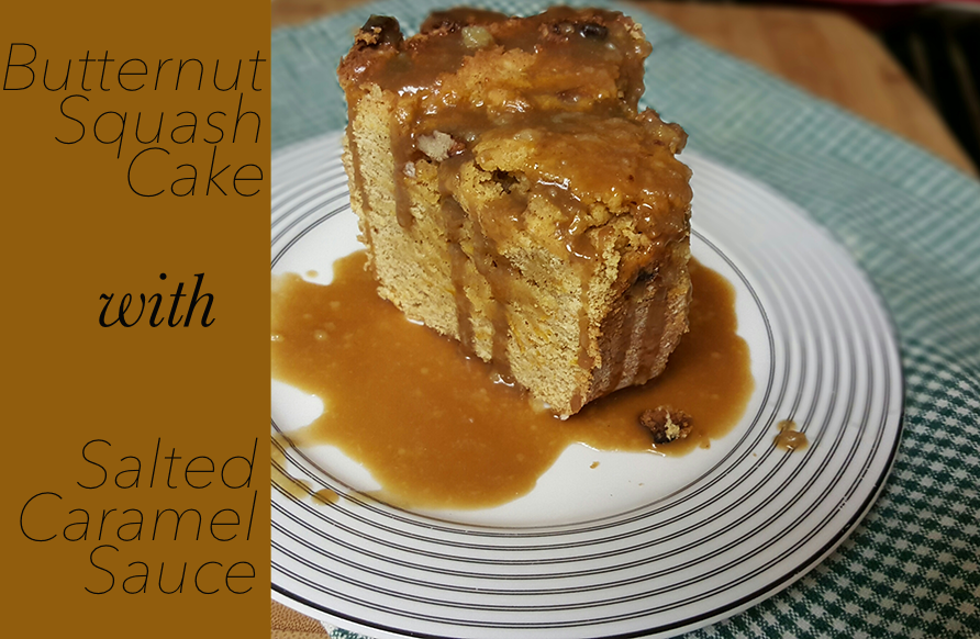 Butternut Squash Cake with Salted Caramel Sauce