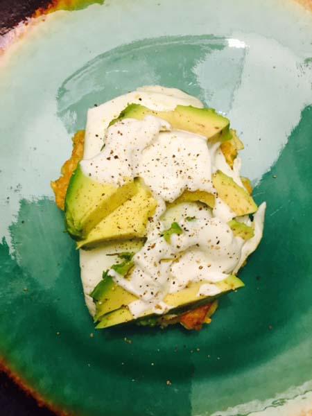 Easy potato latkes with lime crema