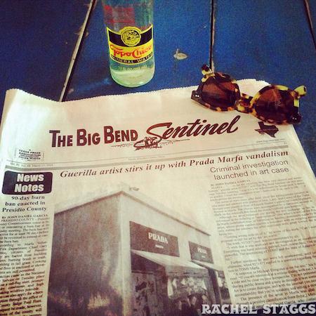 big bend newspaper at el cosmico