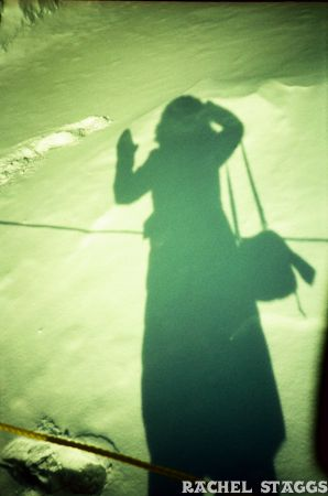 quebec city snow shadow portrait