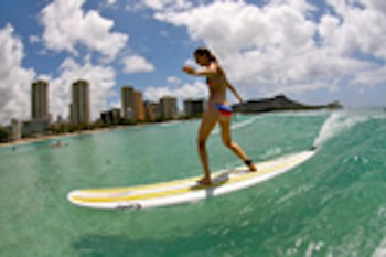 Learning to surf Oahu