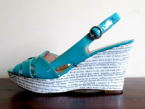 The Story Shoe: Performance art or desecration of literature? You decide!