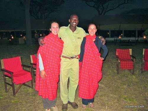 Lindsay Taub, Mauran and Lanee Lee @ AndBeyond Under Canvas, Tanzania