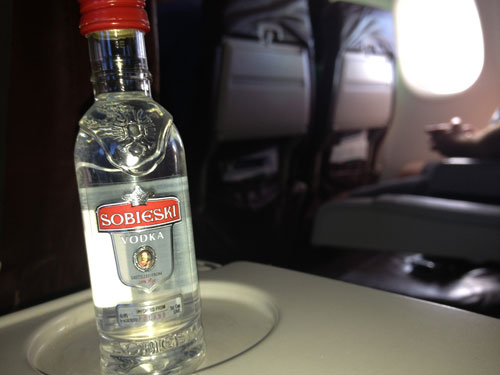 Illegal to drink your own booze on flights?