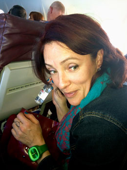 Sneaky drinking on an airplane