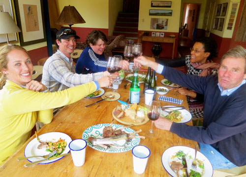 Dunton Hot Springs lunch at Sutcliffe Vineyards