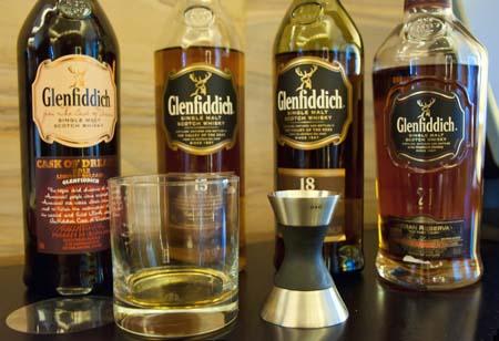 Glenfiddich Scotch Whisky offerings at Westin Kierland Scotch Library