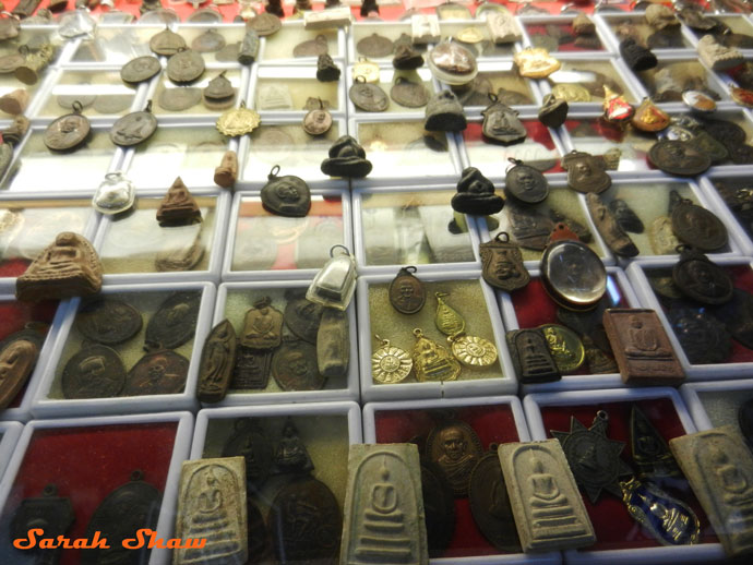 Lucky Amulets for sale at Bangkok's Chatuchak Weekend Market