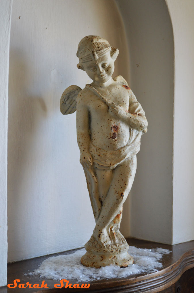 Shabby Chic Cupid Statue