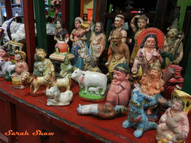 Vintage Indian figurines at Cargo