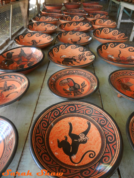 Pottery from Guatil in Costa Rica