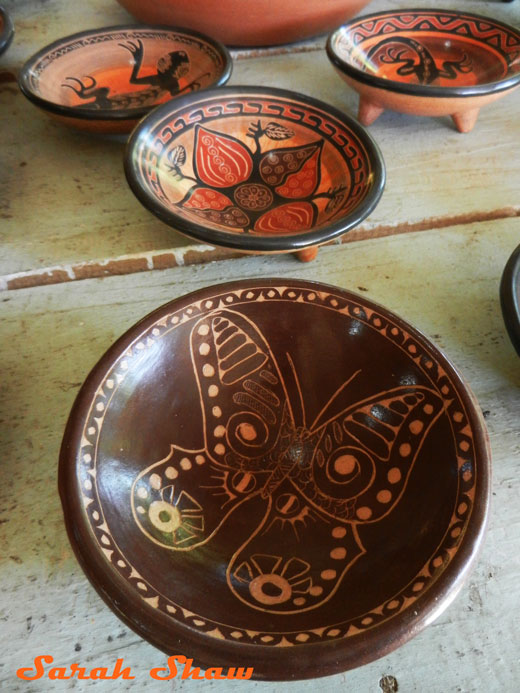 Footed bowls in Guatil, Costa Rica