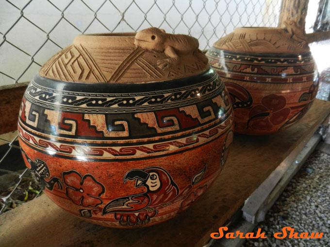 Elaborate pot in Guatil, Costa Rica