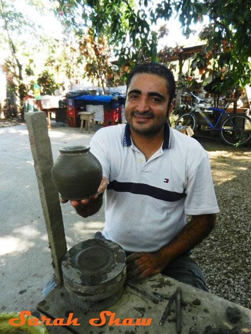 Displaying a new jar in Guatil, Costa Rica