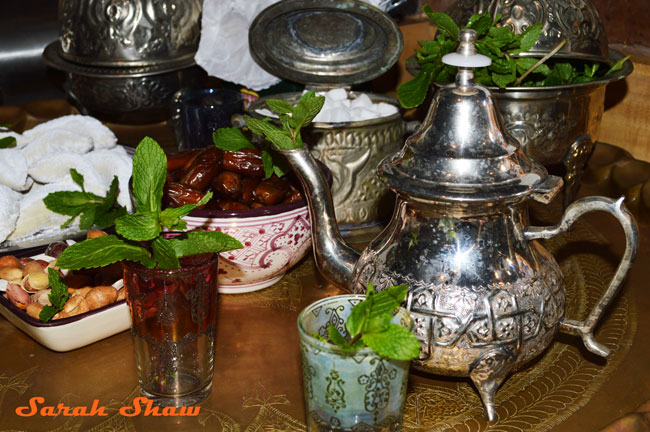 A traditional Moroccan tea pot
