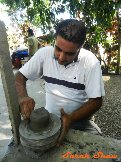 Beginning with a lump of clay in Guatil, Costa Rica