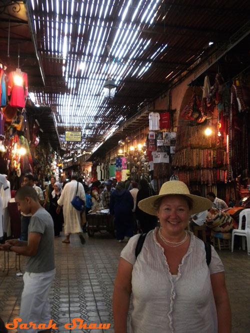 Entering the souk in Marrakesh, Morocco