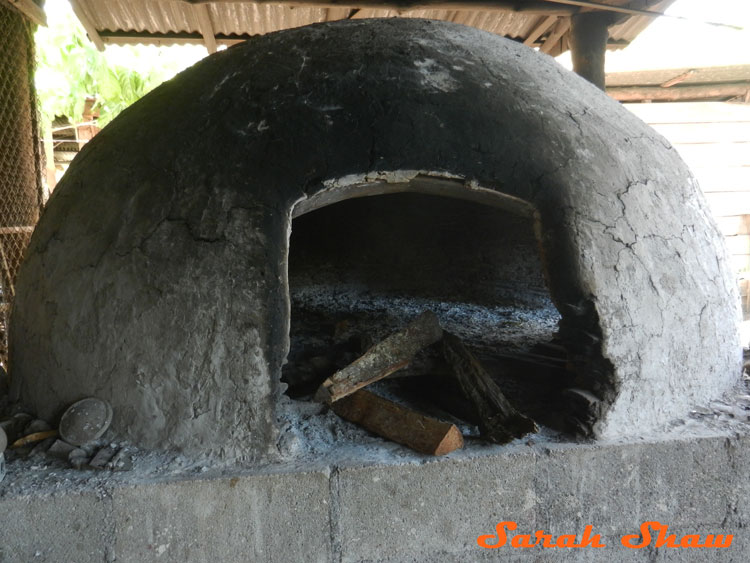 A kiln at Willy's Pottery in Guatil, Costa Rica