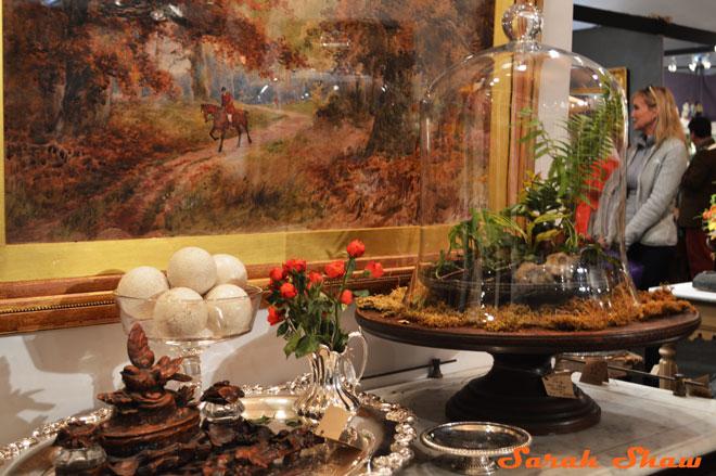 Cloche terrarium by Leftovers Antiques, exhibitors at the Chicago Botanic Garden