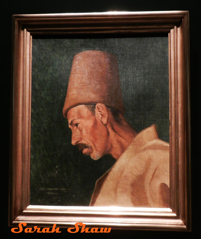 Painting of a Dervish by Osman Hamdi Bey at the Pera Museum, Istanbul, Turkey