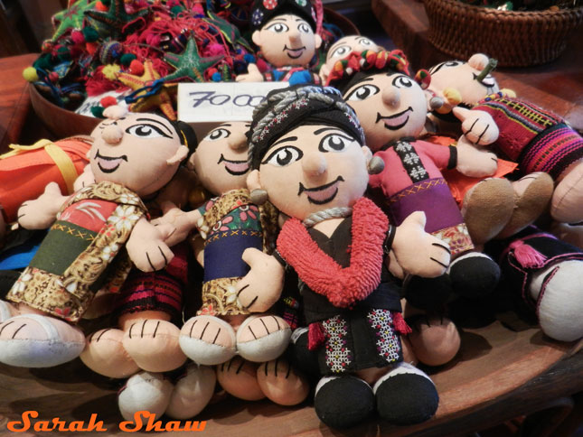 Tribal dolls from Naga Creations, Luang Prabang, Laos